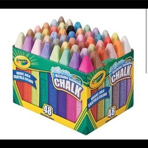 1 new 48 count of new Crayola side walk chalk.
